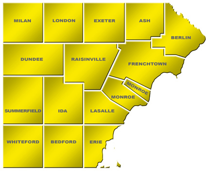 Monroe County Michigan Map